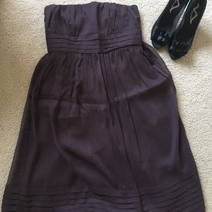 J. Crew dark purple Juliet dress